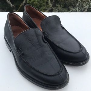 J. Crew Black Leather Loafers 9